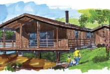 Contemporary Exterior - Front Elevation Plan #320-787