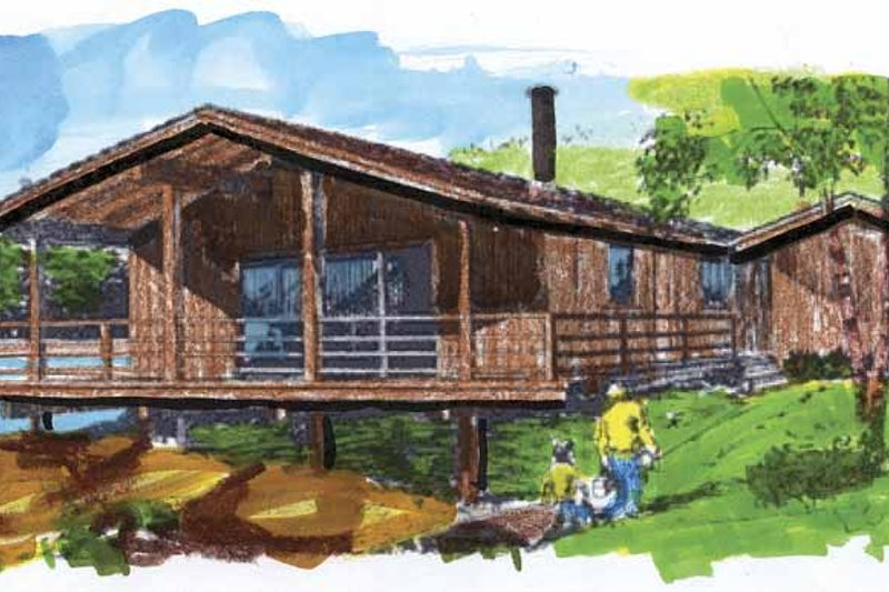 Contemporary Exterior - Front Elevation Plan #320-787 - Houseplans.com
