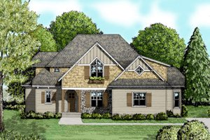 Craftsman Exterior - Front Elevation Plan #413-847