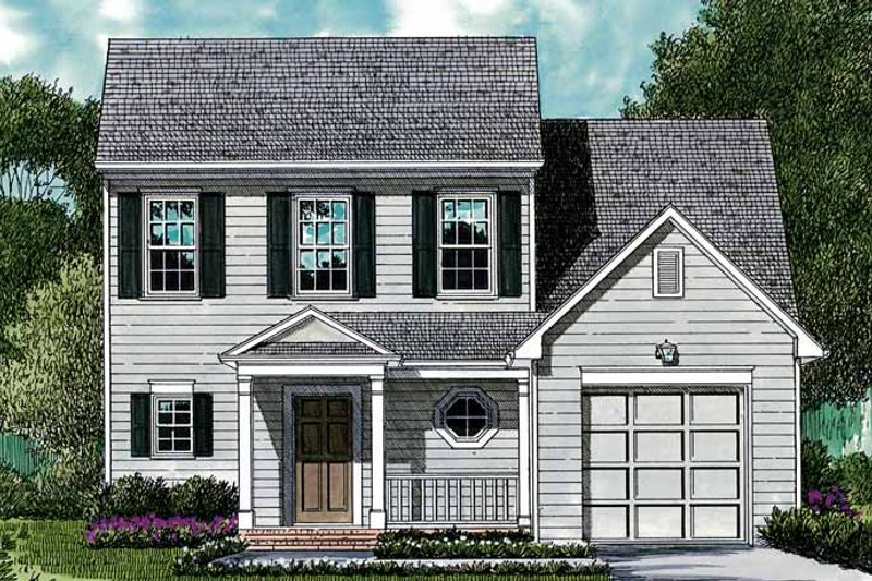 Architectural House Design - Colonial Exterior - Front Elevation Plan #453-372