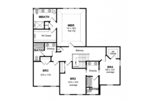 Colonial Floor Plan - Upper Floor Plan Plan #316-279