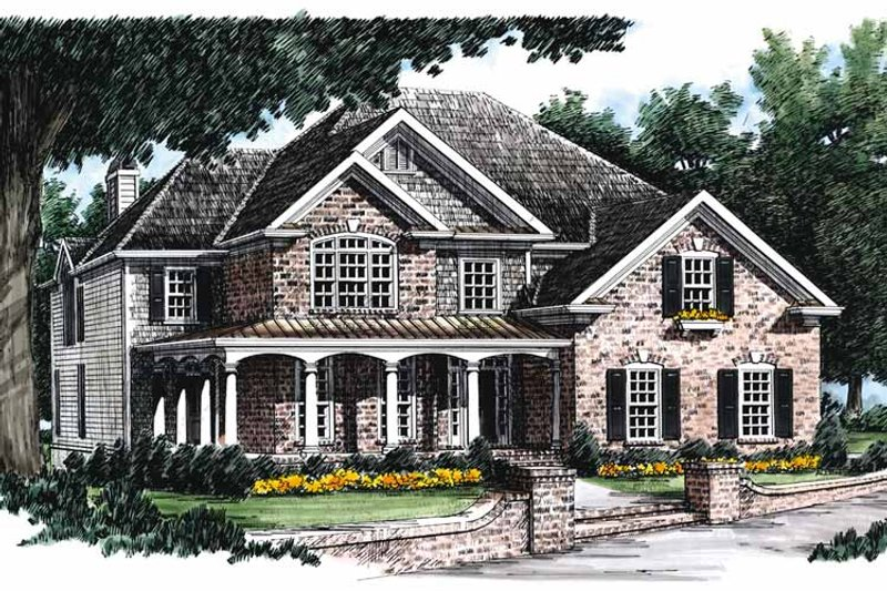 Country Exterior - Front Elevation Plan #927-672 - Houseplans.com