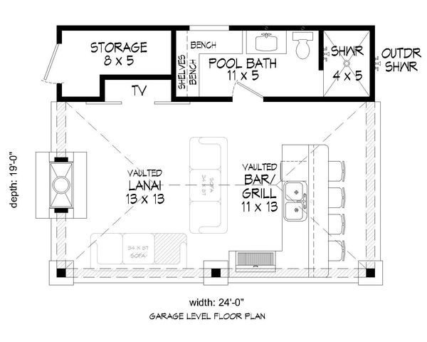 House Plan Design - Country Floor Plan - Main Floor Plan #932-114