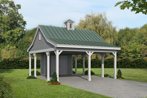 Dream House Plan - Traditional Exterior - Front Elevation Plan #932-357
