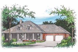 Country Exterior - Front Elevation Plan #15-318