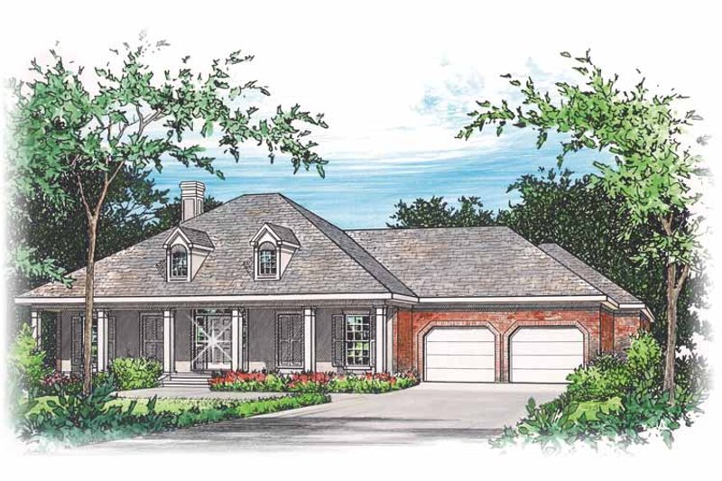 Country Exterior - Front Elevation Plan #15-318 - Houseplans.com