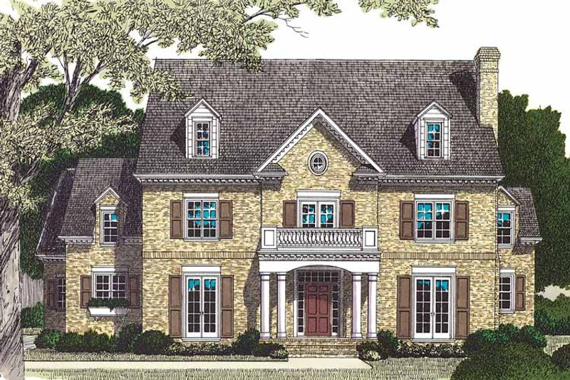 Dream House Plan - Traditional Exterior - Front Elevation Plan #453-462