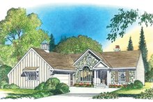 Architectural House Design - Country Exterior - Front Elevation Plan #1016-101