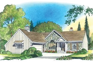 Country Exterior - Front Elevation Plan #1016-101