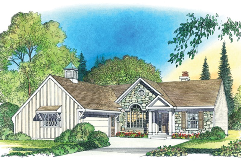 Dream House Plan - Country Exterior - Front Elevation Plan #1016-101
