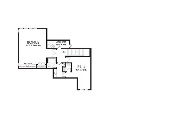 Craftsman Floor Plan - Upper Floor Plan Plan #48-649