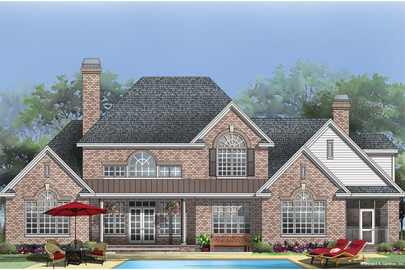 Country Exterior - Rear Elevation Plan #929-36 - Houseplans.com