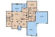 European Style House Plan - 3 Beds 2.5 Baths 3268 Sq/Ft Plan #923-160 Floor Plan - Main Floor