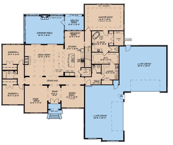 Dream House Plan - European Floor Plan - Main Floor Plan #923-160