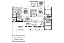Southern Floor Plan - Main Floor Plan Plan #21-131
