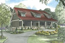 Architectural House Design - Country Exterior - Front Elevation Plan #17-3266