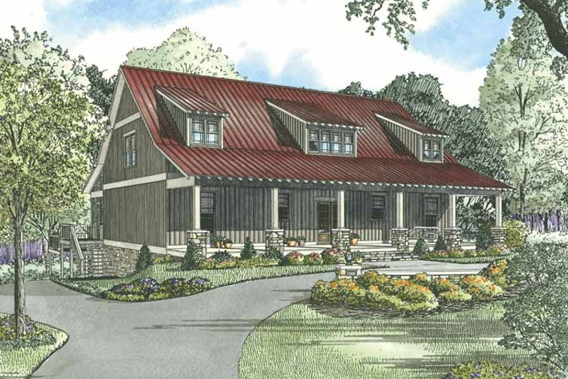Country Exterior - Front Elevation Plan #17-3266 - Houseplans.com