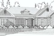 Traditional Style House Plan - 4 Beds 3 Baths 3994 Sq/Ft Plan #63-194 Exterior - Front Elevation