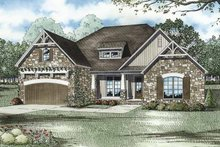Home Plan - Cottage Exterior - Front Elevation Plan #17-3279