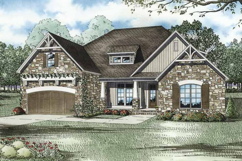 Cottage Exterior - Front Elevation Plan #17-3279
