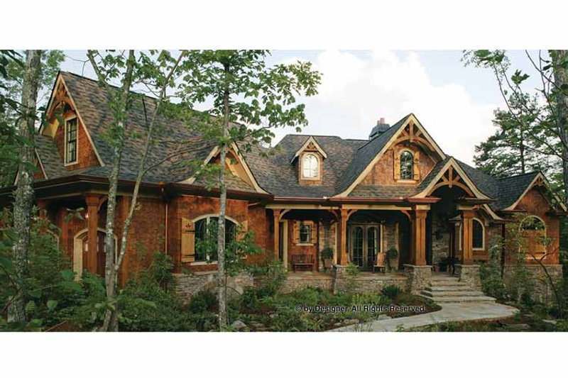 Craftsman Exterior - Front Elevation Plan #54-352 - Houseplans.com
