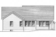 Colonial Exterior - Rear Elevation Plan #316-283