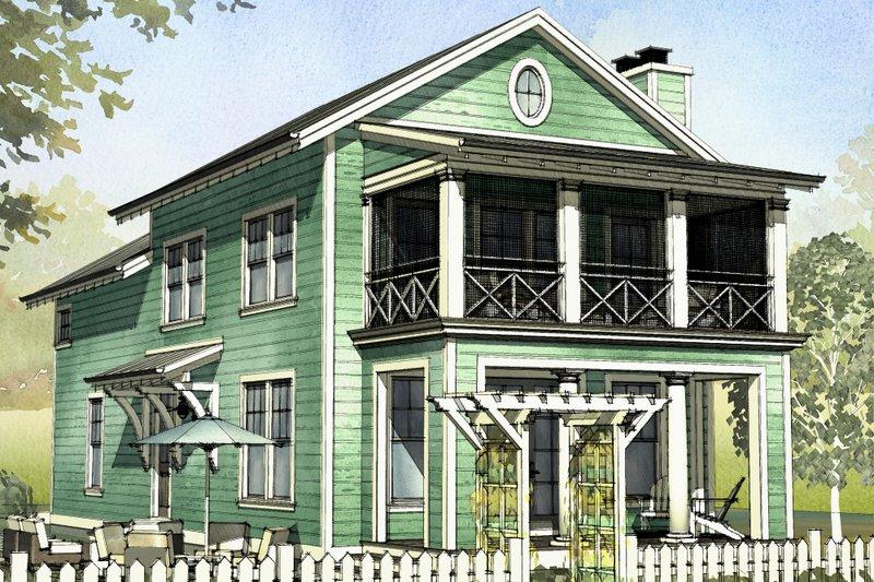 Beach Style House Plan - 3 Beds 2.5 Baths 1929 Sq/Ft Plan #901-126