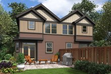 Craftsman Exterior - Rear Elevation Plan #48-1017
