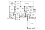 Craftsman Style House Plan - 4 Beds 3.5 Baths 2251 Sq/Ft Plan #119-425 Floor Plan - Main Floor Plan