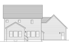Colonial Exterior - Rear Elevation Plan #1010-46
