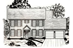 Colonial Exterior - Front Elevation Plan #405-175