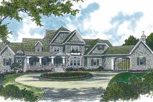 Dream House Plan - Craftsman Exterior - Front Elevation Plan #453-322