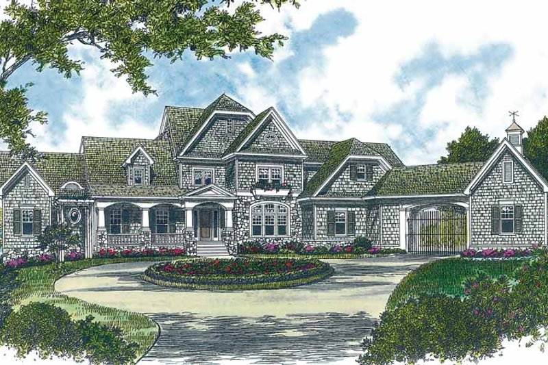 Craftsman Exterior - Front Elevation Plan #453-322
