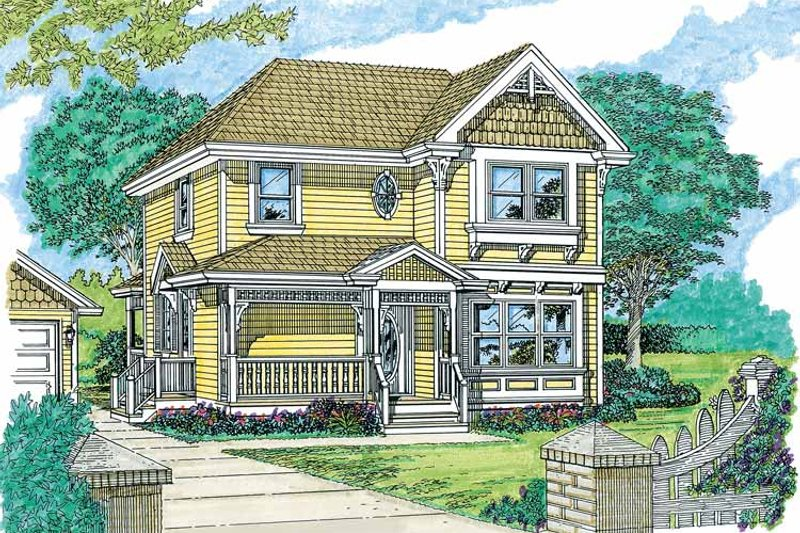 Victorian Exterior - Front Elevation Plan #47-903