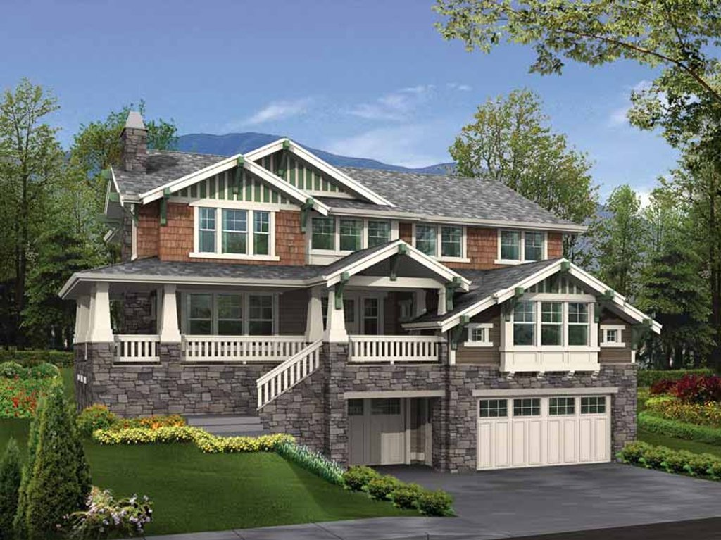 Craftsman style house plan 4 beds 2 5 baths 4379 sq ft for Www eplans com