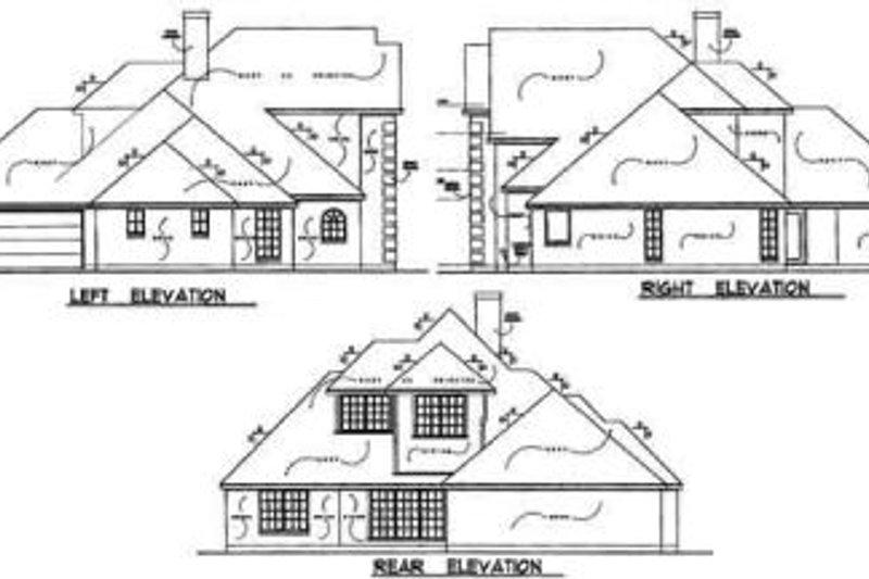 European Exterior - Rear Elevation Plan #40-144 - Houseplans.com