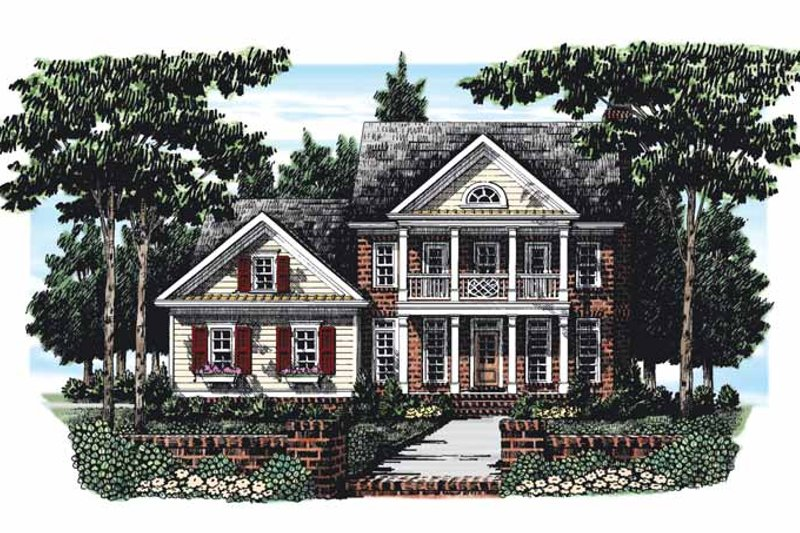 Classical Exterior - Front Elevation Plan #927-277