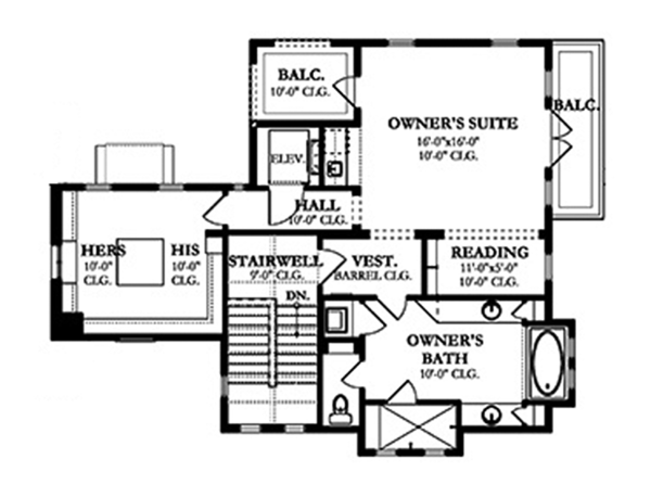 Mediterranean Floor Plan - Other Floor Plan Plan #1058-155