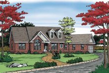 Dream House Plan - Ranch Exterior - Front Elevation Plan #314-219
