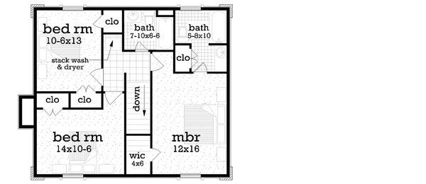 House Plan Design - Traditional Floor Plan - Upper Floor Plan #45-577