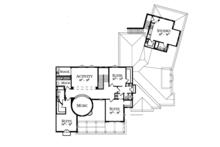 Mediterranean Floor Plan - Upper Floor Plan Plan #1058-1