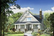 Craftsman Style House Plan - 4 Beds 3 Baths 2793 Sq/Ft Plan #929-986 Exterior - Front Elevation