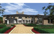 Prairie Exterior - Front Elevation Plan #132-354