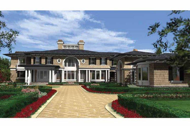 Prairie Exterior - Front Elevation Plan #132-354 - Houseplans.com