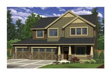 Craftsman Exterior - Front Elevation Plan #943-27