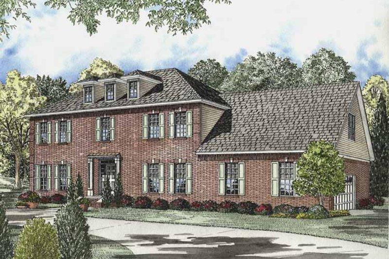 Colonial Exterior - Front Elevation Plan #17-2833 - Houseplans.com