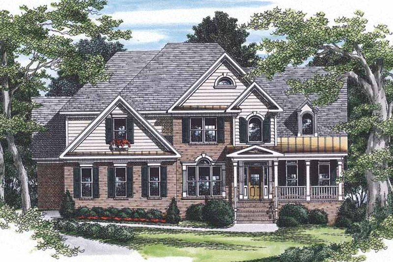 Traditional Exterior - Front Elevation Plan #927-170 - Houseplans.com