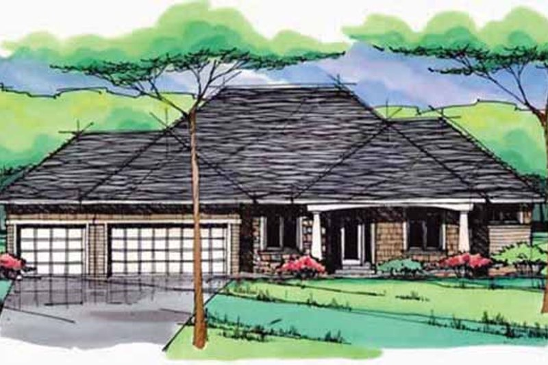 Prairie Exterior - Front Elevation Plan #51-967