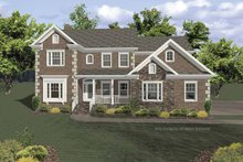 Home Plan - Traditional Exterior - Front Elevation Plan #56-669