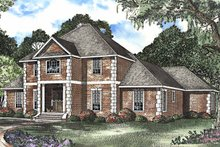 Architectural House Design - Colonial Exterior - Front Elevation Plan #17-3208